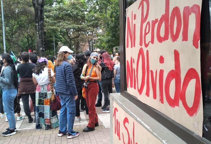 PROTESTA FRENTE AL CAI DE SOLEDAD