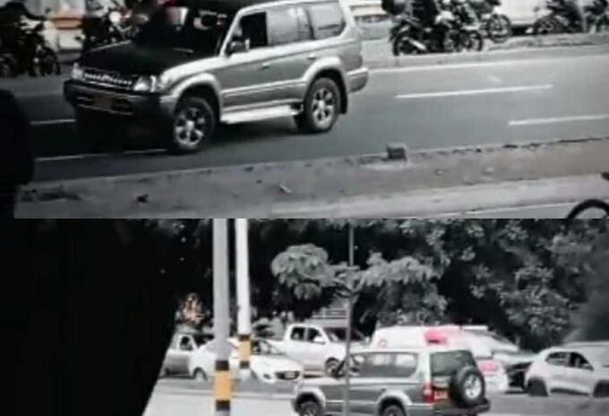 Fotografías tomadas del video aficionado.