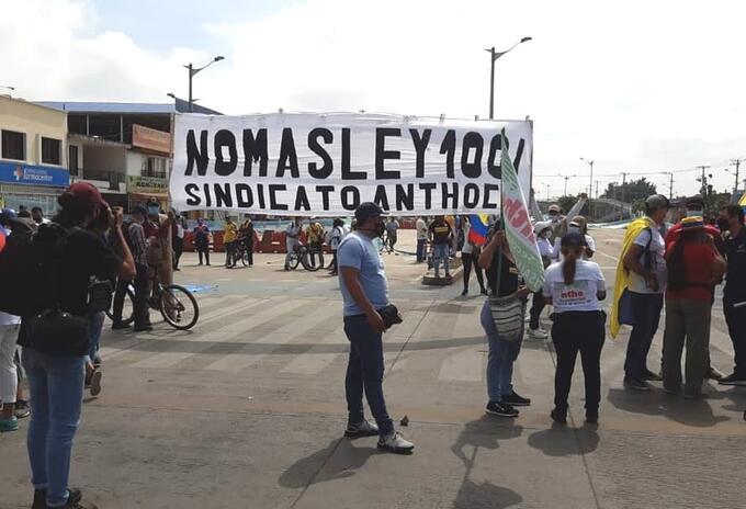 Manifestantes Cali