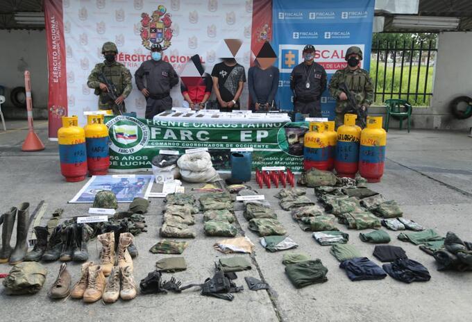 Captura de tres integrantes de las Farc, en el Cauca.