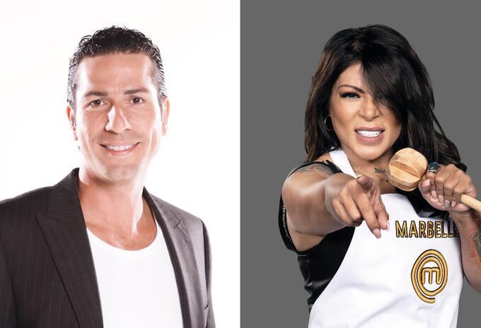 Gregorio Pernia y Marbelle en MasterChef Celebrity
