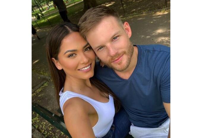 Andrea Meza y su novio Ryan Antonio
