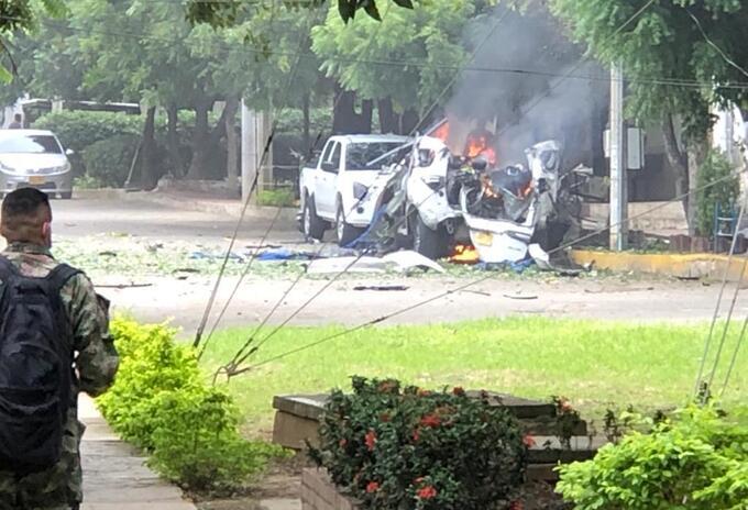 Carro bomba en Brigada Treinta del Ejército