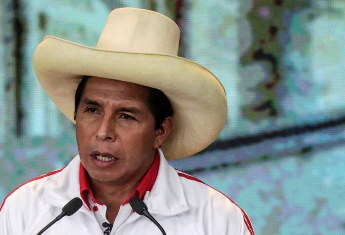 Pedro Castillo, candidato a la presidencia del Perú