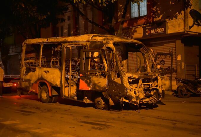 Vandalismo en Ibagué.