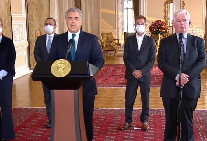 Eamon Gilmore, Alto Representante Especial de la Unión Europea para los Derechos Humanos, se reunió con el presidente Iván Duque