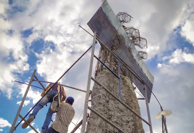 Avanza la construcción del 'Monumento a la Resistencia' al oriente de Cali.