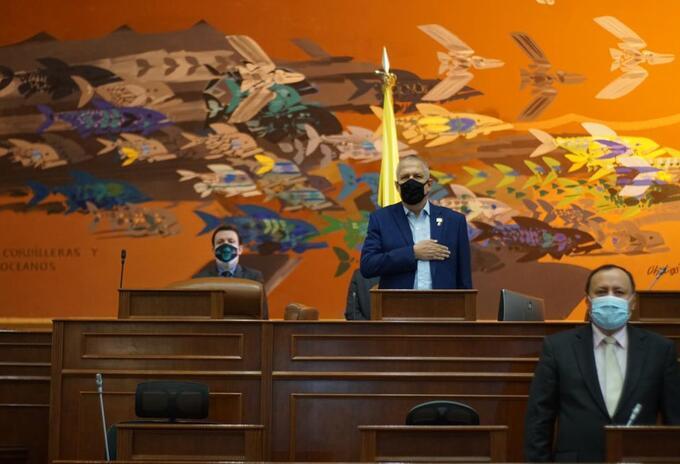 Germán blanco presidente de la Cámara de Representantes