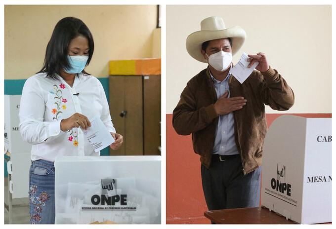 Keiko Fujimori y Pedro Castillo se disputaron la segunda vuelta de las elecciones en Perú