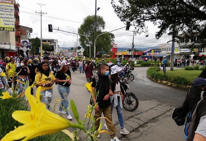 Protesta Popayán