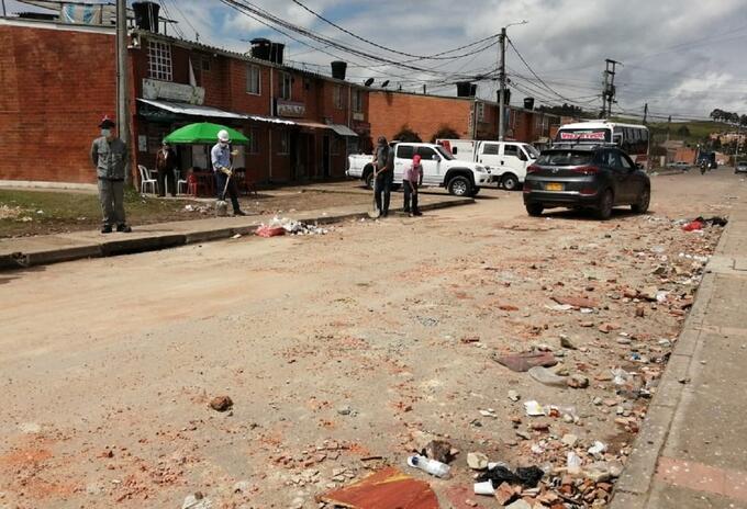 Barrio de Facatativá, en Cundinamarca