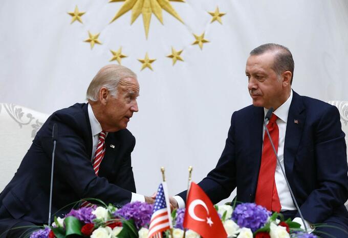 Joe Biden y Recep Tayipp Erdogan