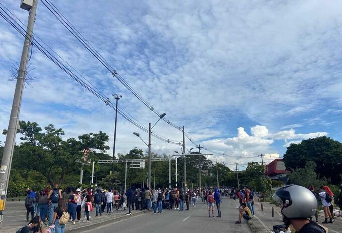 Disturbios en los alrededores de la Universidad de Antioquia.