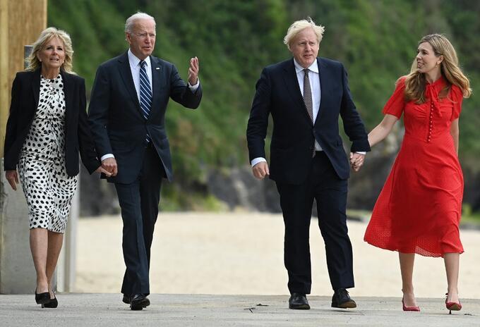 Joe Biden y Boris Johnson