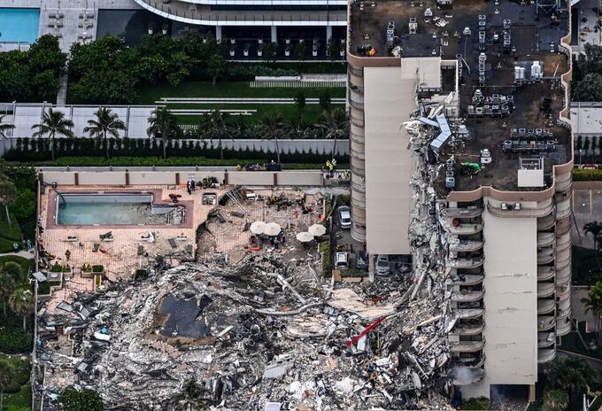 Colapaso edificio en Miami