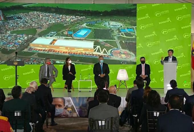El Presidente, Iván Duque, participó en la presentación de la nueva etapa del sistema Metro de Bogotá