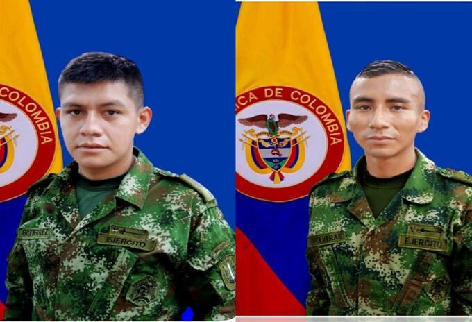 Los soldados asesinados en los combates