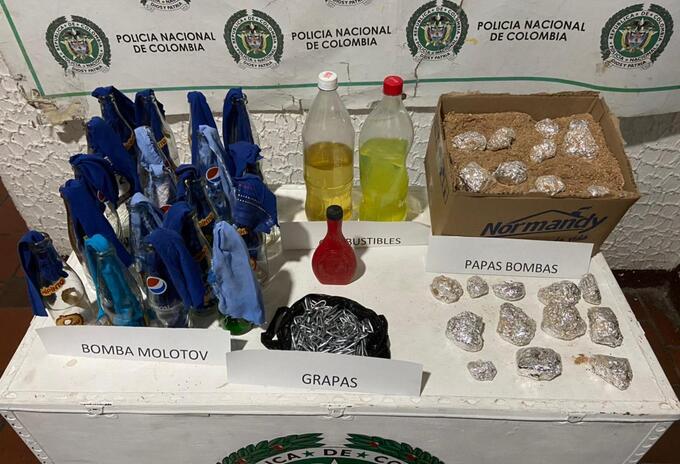 Explosivos decomisados en Pamplona