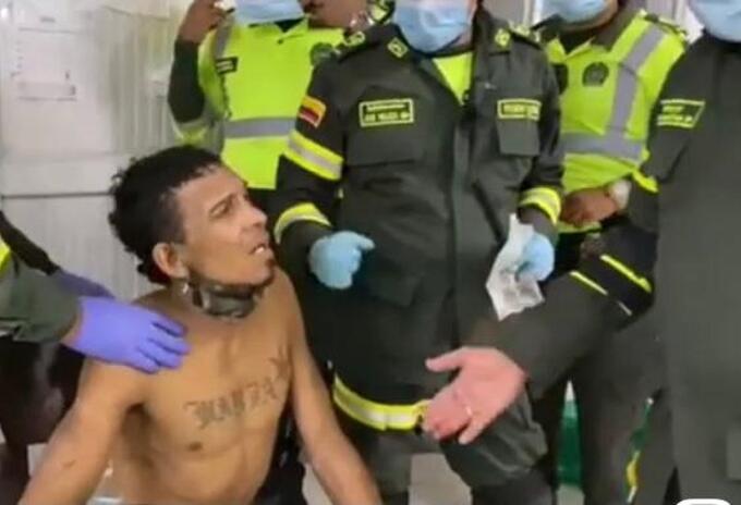 Herido en protestas en Barranquilla.