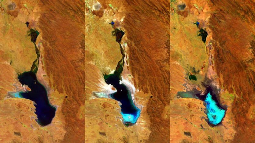 Lago Poopó recupera su caudal tras haberse secado por cambio climático.