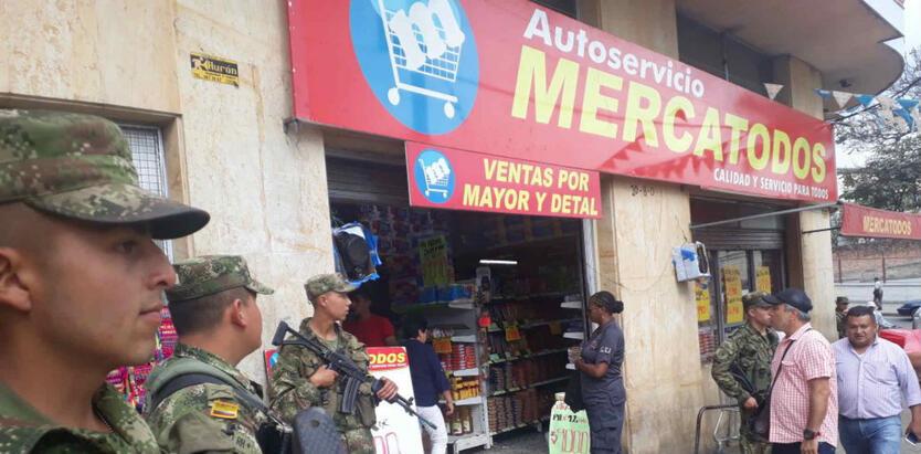 Supermercados al servicios de las Farc.