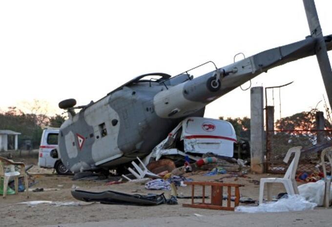 Accidente helicóptero en México