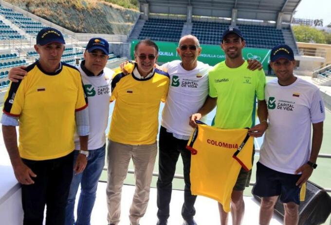 Colombia y Brasil en Copa Davis