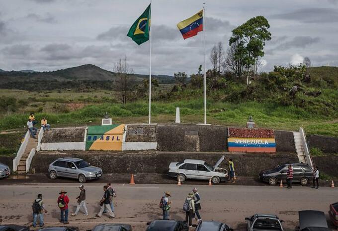 Frontera entre Venezuela y Brasil.