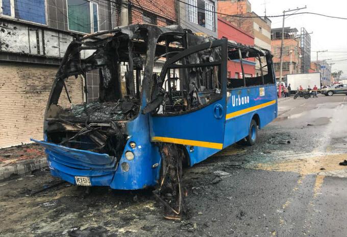 Bus Sitp incendiado