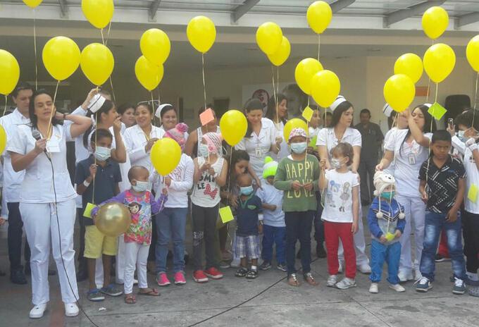 Niños con cáncer en hospital de Medellín