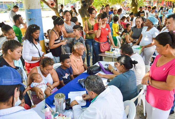 Jornada de atención en salud a venezolanos