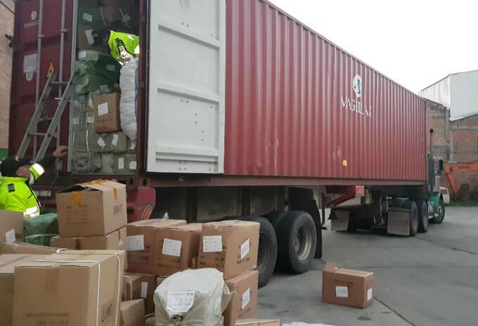 Mercancía incautada de contrabando