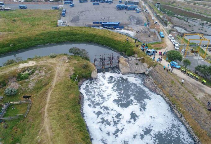 Contaminación río Tunjuelo