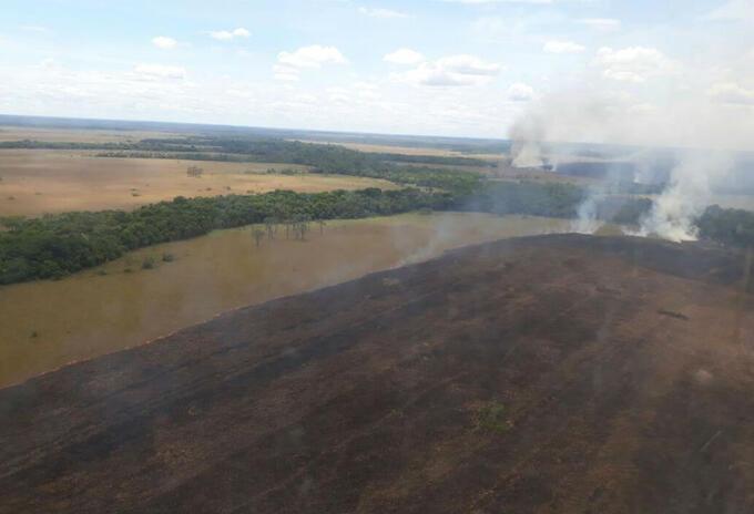 Incendio en el Parque Natural el Tuparro