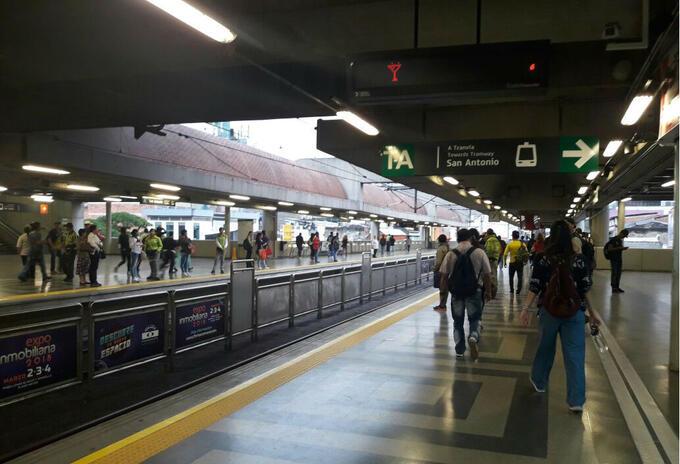 Falla en Metro de Medellín