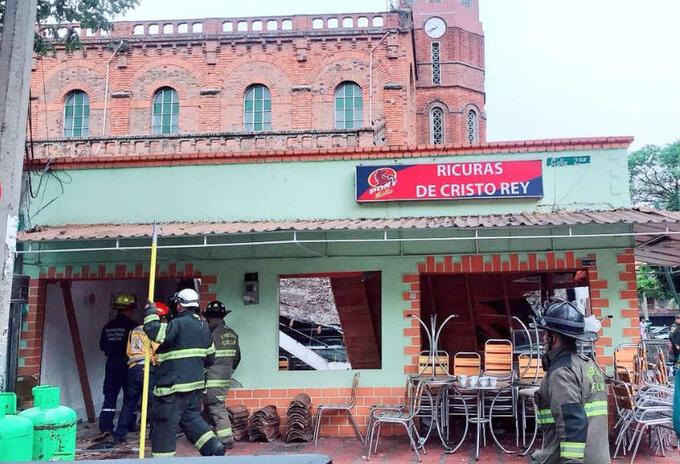 Colpaso de techo de panadería