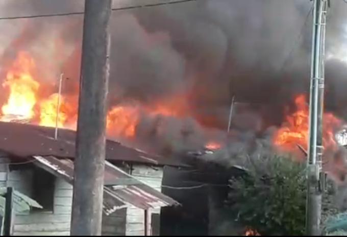 Incendio Estación de Policía Antioquia